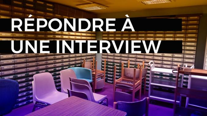 blog répondre interview